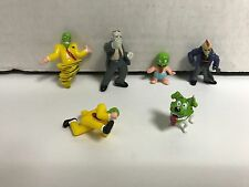"Set of 6 ~ Ultra Rare THE MASK 1"" Action Figures JIM CARREY with Milo the Dog"