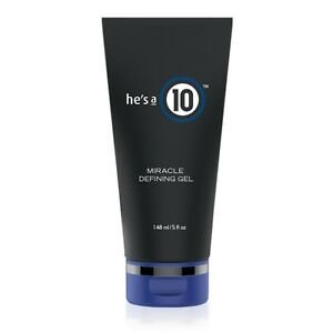hes a 10 Miracle Defining Gel 5 oz / 148 ml for men Never flakes or crunches