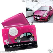 BACHE DE PROTECTION ANTI-GIVRE ROSE POUR PARE BRISE VOITURE AUTO VALERIE NYLIN