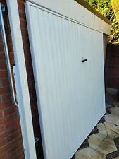 Novoferm up and over garage door & frame.2134cm wide x1981cm high 18 months old.