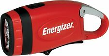 Energizer Weatheready 3-LED Carabineer Rechargeable Crank Light, Red Imported