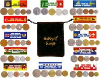 60 OLD COINS FROM 12 DIFFERENT COUNTRIES IN EUROPE. COLLECTIBLE COINS FOR GIFTS