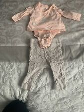 jessica simpson 0/3 Months Moon And Stars Outfit Baby Girl