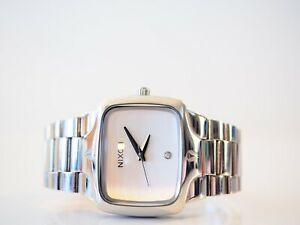 Nixon The Player SS Silver Watch Fantastic Condition