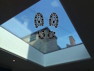 Walk On Glass1000x1000 Flat Roof Skylight Rooflight Double Glazed 33mm Laminated