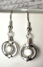 Unusual Gorgeous Earrings Handmade Miracle Bead Silver Hooks Present FREE P&P