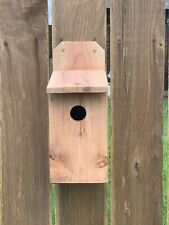 BLUEBIRD CEDAR BIRD HOUSE NEW HANDMADE 5/8 CEDAR