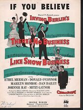 If You Believe  Marilyn Monroe There's No Business Like Show Business Sheet Musi