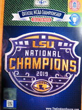 NCAA College Football LSU 2019 National Championship  Patch