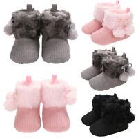 Baby Kids Fashion Warm Winter Snow Booties Crib Pram Princesses Hook Loop Shoes