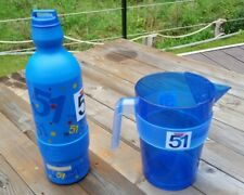 Lot Carafe PASTIS 51 pot d'eau pichet bouteille gourde -Vintage - Made in France
