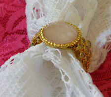 YOURS BY LOREN Gold Vermeil Rose Quartz Ring Size 8