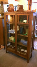 Mission China Cabinet Quarter Sawn American White Oak Circa 1905 Restored