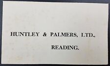 Unused George VI Huntley & Palmer Official Reply Envelope, Embossed to Reverse