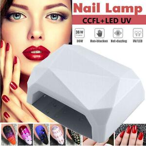 Nail Dryer Art Gel Curing Gelish Timer Acrylic Polish 36W LED Light UV Lamp