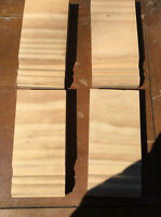 """9//16/""""W X 4FT Beech Wood Molding Carved Maple 10pc Total 40ft Trim Moulding"""