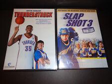 THUNDERSTRUCK & SLAP SHOT 3--Kevin Durant, Mark Messier, Doug Gilmour--2 DVDs