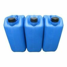 3 X 25L ANIT-GLUG ECO-VENT NEW PLASTIC JERRY CAN CONTAINER BLUE HEAVY DUTY