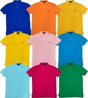 Ralph Lauren Polo Mens Pony Logo Classic Fit Knit Shirt Solid Colors New