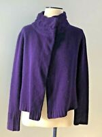 Lauren Ralph Lauren Women's Size S Wool Angora Sweater Cardigan Purple