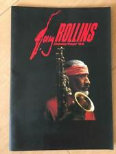 Sonny Rollins Concert Japan Performance Pamphlet Oosaka Book Rare