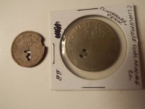 Lot of TN Tennessee antique coal scrip tokens