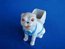 ANTIQUE GERMAN PORCELAIN PUG DOG FIGURINE MATCH HOLDER NO RESERVE