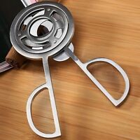 Silver Stainless Steel 3 Blades Tobacco Cigarette Cigar Cutting Cutter Scissors