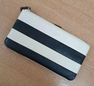 Radley black and white stripe leather purse/wallet Babbington Stripe brand new