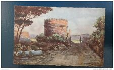 carte postale aquarelle ancienne de ROME: via Appla
