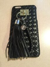 APPLE IPhone 6 PLUS Black Plastic Snap Case With Tassle And Rope