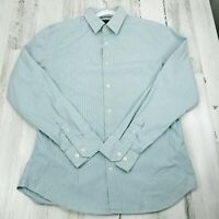 Mens Medium Banana Republic Slim Fit Striped Long Sleeve Button Up Shirt