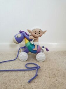 Cloud Babies Sky Donk and Bobo White Pull Along Toy Rare