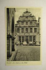 Ansichtskarte  Bielefeld Markt mit 2 x VW Brezel Käfer um 1955