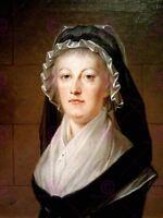 Painting Portrait Kucharsky Marie Antoinette Temple Prison Canvas Art Print
