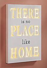 LED beleuchtet  Holzbild Place like Home Finish Wandbild  in Geschenkbox