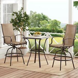 Outdoor Bistro Set Bar Height Table And Chairs Set Furniture Backyard Patio NEW
