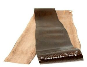 Authentic Snakeskin Snake Skin Belly Hide Leather Pelt Craft Supply Glossy Brown