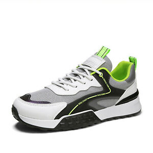 Men's Fashion Sports Shoes Mesh Breathable Comfortable Tennis Running Shoes