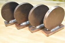 "AR500 1/2"" American Steel Shooting Targets Welded 4"" Standing SET OF FOUR"