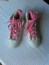 BK BRITISH KNIGHTS WHITE&PINK HI TOP TRAINERS SIZE 4 B.N