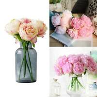 Artificial Peony Fake Flower Wedding Bouquet Home Party Decor Bouquet New Hot SP