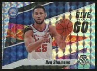 2019-20 Panini Mosaic Ben Simmons Give and Go Insert Silver Mosaic Prizm 76ers