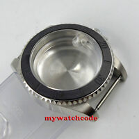 40mm sapphire glass brushed ceramic bezel Watch Case fit 2824 2836 MOVEMENT C98