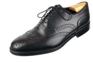 Black POLLINI Leather Wingtip Brogue Oxford Dress Shoes 42 EU 8.5 US ITALY