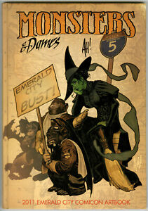 Monsters and Dames 2011 ADAM HUGHES   Con Sketchbook - Signed-  F-NM