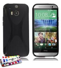 """COQUE HTC ONE M8 """" LE X """" NOIR SILICONE SOUPLE (TPU)"""