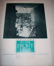 Leslie Cole Original Exhibition Poster 1986 To The Front Line Second World War