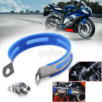 Motorcycle Exhaust Muffler Silencer Can Hanger Hanging Clamp Strap Bracket *#
