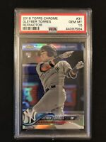 2018 Topps Chrome Gleyber Torres Rookie Refractor PSA 10 New York Yankees RC